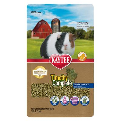 This product is a nutritionally fortified daily diet made with fiber-rich, sun-cured timothy hay combined with other essential ingredients necessary for your guinea pig. Timothy hay aids the natural digestive process of rabbits by poviding high quality...