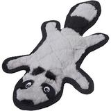 Frisco Flat Plush Squeaking Raccoon Dog Toy, Small