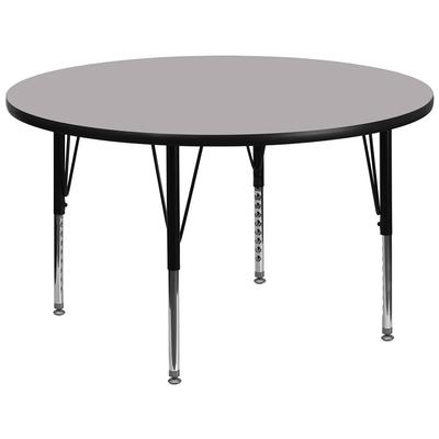 """Flash Furniture XU-A42-RND-GY-T-P-GG 42"""" Round Activity Table - Laminate Top, Gray"""