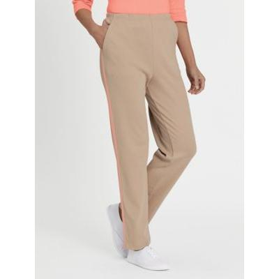 Women's Fresh Sport Pants, Cobblestone/Candlelight Peach 2XL Misses