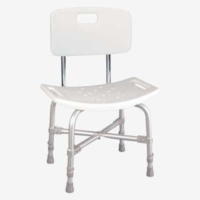 Deluxe Bariatric Shower Chair with Cross-Frame Brace in White by BrylaneHome