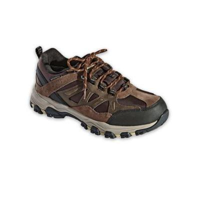 Men's Skechers Selmen Enago Leather Shoes, Chocolate Brown 10 Double Wide
