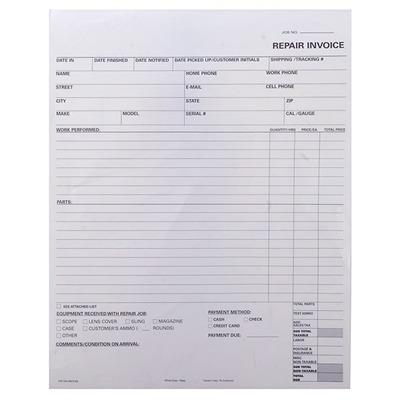 Brownells Repair Log Books - 500 2-Part Forms
