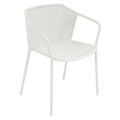 emu 522 30.5 Darwin Stacking Arm Chair w/ Mesh Back & Seat - Antique White on Sale