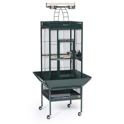 Prevue Pet Products Signature Select Series Wrought Iron Bird Cage in Metallic Jade, Small, Green