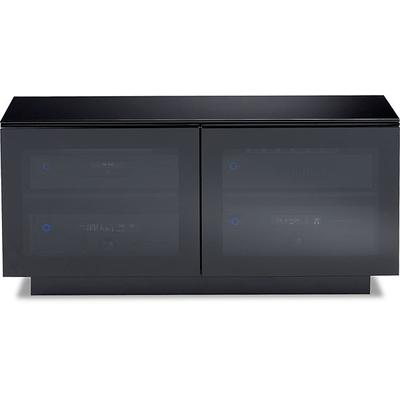BDI Mirage 8224 Double Wide Enclosed Cabinet Satin Black