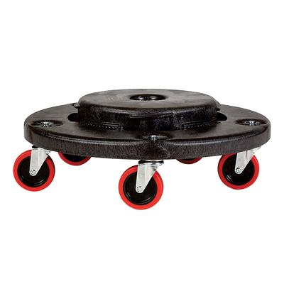 Rubbermaid FG264043BLA Round Plastic Trash Can Dolly w/ Raised Center & 350 lb Capacity on Sale