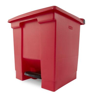 Rubbermaid FG614300RED 8 gal Step-On Container - Red on Sale