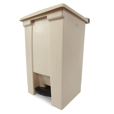 Rubbermaid FG614400BEIG 12 gal Step-On Container - Beige on Sale