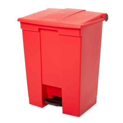 Rubbermaid FG614500RED 18 gal Step-On Container - Red on Sale