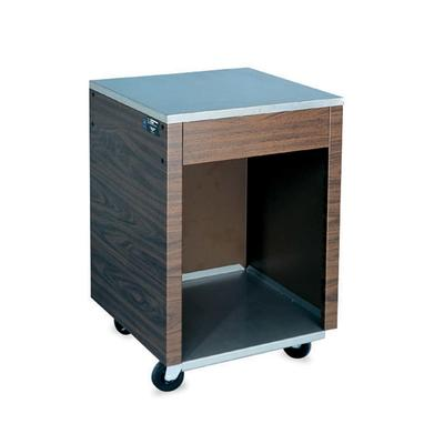 Vollrath 38905 Cashier Station - 35x24x24 Open Base with Shelf, Walnut Wrapper, Stainless on Sale