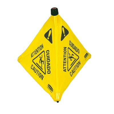 Rubbermaid FG9S0100 YEL 30 Wet Floor Safety Cone - Pop-Up, Yellow on Sale