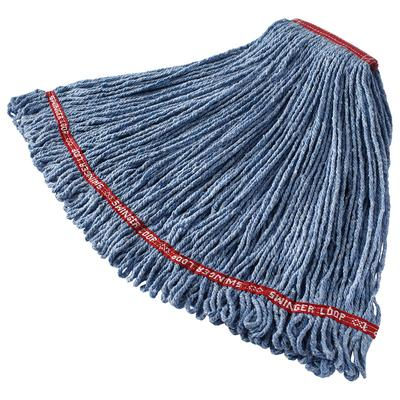 Rubbermaid FGC11306BL00 Looped-End Large Wet Mop Head - 1 Headband, 4 Ply Cotton/Synthetic, Blue on Sale