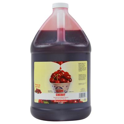Gold Medal 1031GA 1 gal Cherry Snow Cone Syrup Concentrate on Sale