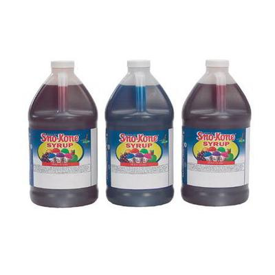 Gold Medal 1050 Strawberry Snow Cone Syrup, Ready-To-Use, (4) 1 gal Jugs