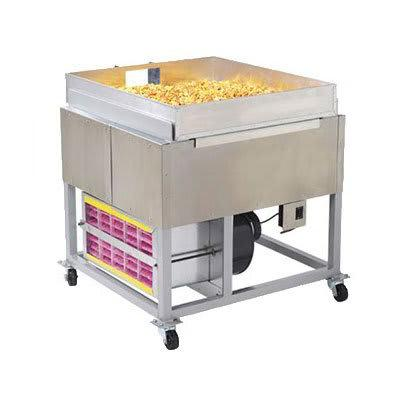 Gold Medal 2169 Large Caramel Corn Cooling Pan w/ Chute & Door, Anodized Aluminum on Sale