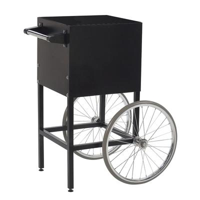 Gold Medal 2649MD Fun Pop Cart for 4 oz Popper w/ Storage Compartment & 2 Spoke Wheels, Midnight Black on Sale
