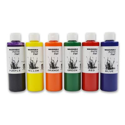 Gold Medal 7736 8 oz Washable Paint Kit w/ 2 of Each Color, 12 Bottles/Case on Sale