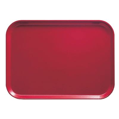 Cambro 1014221 Fiberglass Camtray Cafeteria Tray - 13.75L x 10.6W, Ever Red on Sale