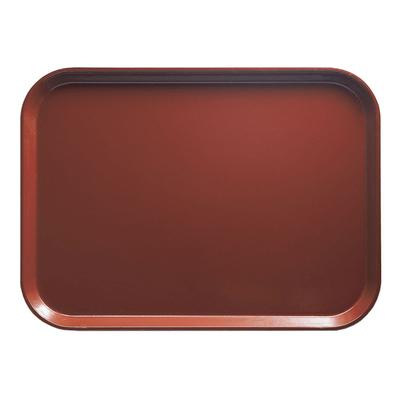 Cambro 1014501 Fiberglass Camtray Cafeteria Tray - 13.75L x 10.6W, Real Rust on Sale