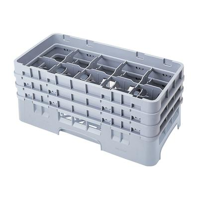 Cambro 10HS638151 Camrack Glass Rack - (3)Extenders, 10 Compartments, Soft Gray on Sale