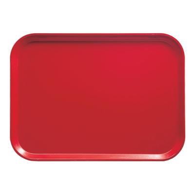 Cambro 1418510 Fiberglass Camtray Cafeteria Tray - 18L x 14W, Signal Red on Sale