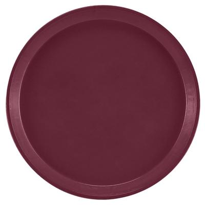 Cambro 1600522 16 Round Serving Camtray - Burgundy Wine on Sale