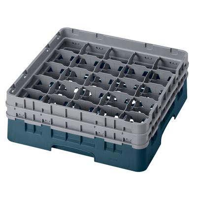 Cambro 25S434414 Camrack Glass Rack - (2)Extenders, 25 Compartment, Teal on Sale