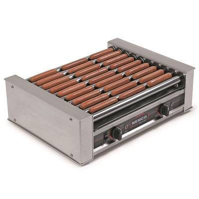 Nemco 8027-220 27 Hot Dog Roller Grill - Flat Top, 220v on Sale