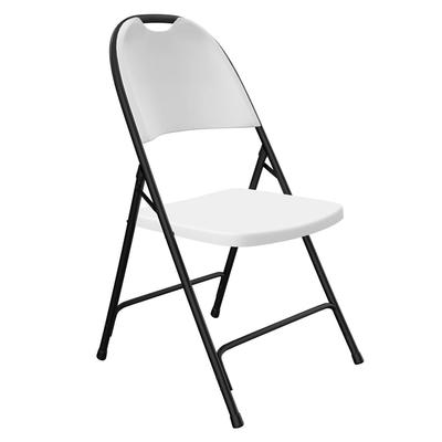 Correll RC350 23 Heavy Duty Folding Chair, Injection Molded, Gray w/ Black Frame on Sale