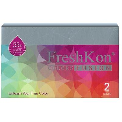 SB: Freshkon colors Fusion cosmetic Color contact lenses  Freshkon Color Fusion cosmetic color contact lenses offers radiant, sparkling style while the original Dazzlers series gives you a dazzling and vivacious look