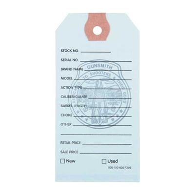 Brownells Gun Price Tags - 100 Brownells Gun Price Tags, Light Blue