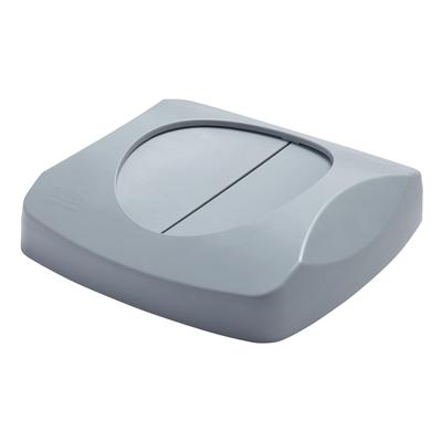 Rubbermaid FG268988GRAY Square Swing Top Trash Can Lid - Plastic, Gray on Sale