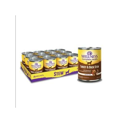 Wellness Turkey & Duck Stew with Sweet Potatoes & Cranberries Dog Food, 12.5-oz can, 12ct