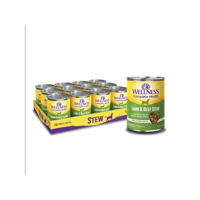 Wellness Lamb & Beef Stew with Brown Rice & Apples Canned Dog Food, 12.5-oz, case of 12