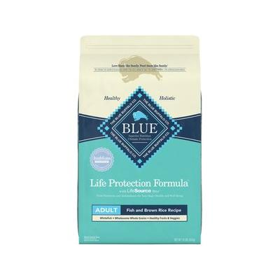 Blue Buffalo Life Protection Formula Adult Fish & Brown Rice Recipe Dry Dog Food, 15-lb bag