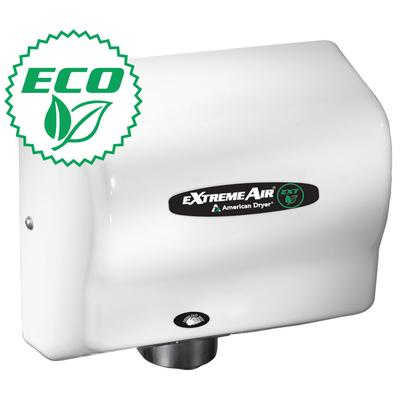 American Dryer EXT7 Hand Dryer w/ 12 15 Second Dry Time & Automatic Sensor, White ABS