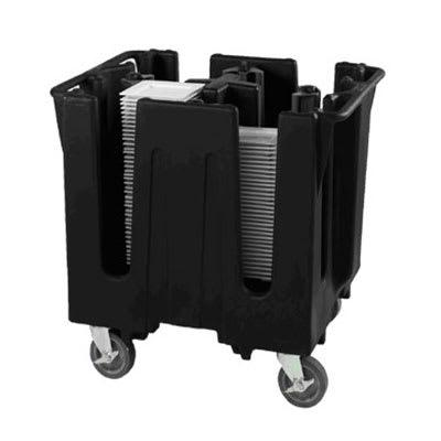 Vollrath SAC-SQ5-06 Small Dish Caddy with Cover - Adjustable, 6 Post, 6 Stacks, Fits 4 8 Square, Black on Sale