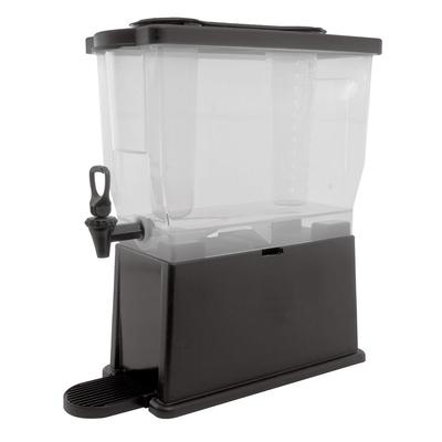 Service Ideas CBDP3BLK 3 Gallon Rectangular Beverage Dispenser w/ Infuser & Ice Tubes on Sale