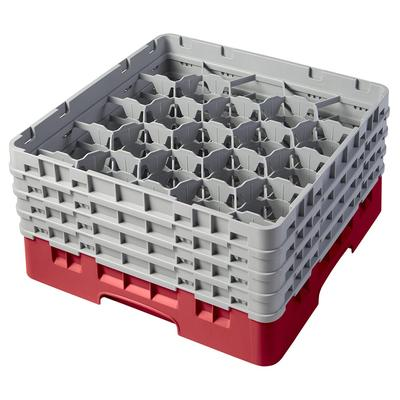 Cambro 20S800163 Camrack Glass Rack - (4)Extenders, 20 Compartment, Red on Sale