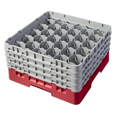 Cambro 30S800163 Camrack Glass Rack - (4)Extenders, 30 Compartment, Red on Sale