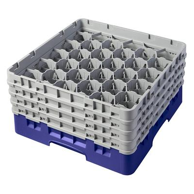 Cambro 30S800186 Camrack Glass Rack - (4)Extenders, 30 Compartment, Navy Blue on Sale