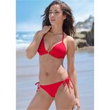 Enhancer Push UP Triangle Triangle Bikini Tops - RED