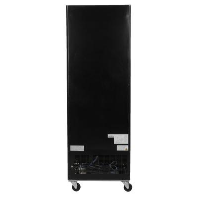 SB: Avantco GDC-23-HC 28 3/8  Black Swing Glass Door Merchandiser Refrigerator with LED Lighting Increase your sales of  grab and go  items like bottled tea and soda, or pre-packaged sandwiches and salads with this Avantco GDC-23-HC 28 3/8  black merchandising refrigerator! Designed with sharp looks and usability in mind, this unit is the perfect...