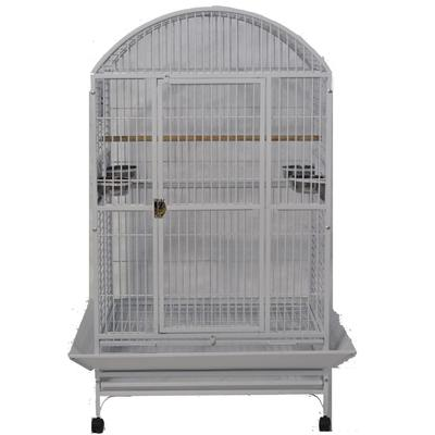 "A&E Cage Company Stainless Steel Palace Dometop X-Large Bird Cage, 36"" L X 28"" W X 65"" H, Gray"