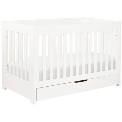 Babyletto Mercer 3-in-1 Convertible Crib with Toddler Bed Conversion Kit in White Finish