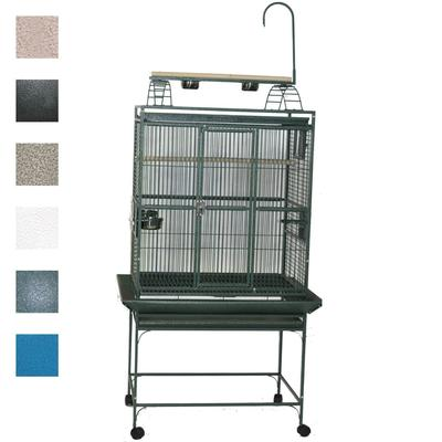 """A&E Cage Company 32"""" X 23"""" Play Top Bird Cage in Black"""