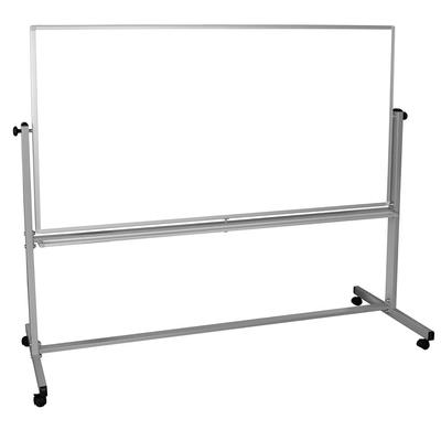 Luxor MB7240WW Reversible Whiteboard w/ 2 Magnetic Sides, 72 x 40 on Sale
