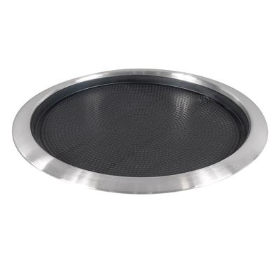 Service Ideas TR1412RI 14 Non-Slip Tray w/ Removable Rubber Insert, Stainless on Sale
