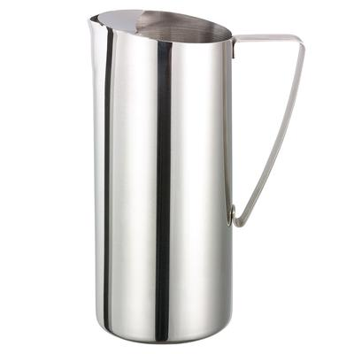 Service Ideas X7025 64 oz Water Pitcher w/ Ice Guard, Stainless, Chrome Finish on Sale